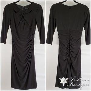 INC Women's Black Ruched Dress 4 NWT